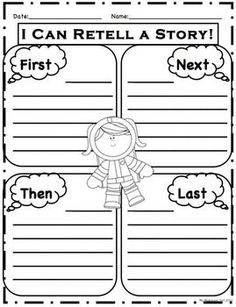 "1000+ images about Writing- First Next Then Last on Pinterest ...first next then worksheet | First, Next, Then, Last"" space themed worksheet"