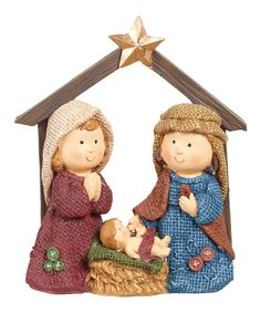 Look at this Nativity Manger Figurine on #zulily today!