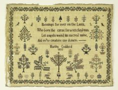 Sampler (USA), 1832 | Objects | Collection of Cooper Hewitt, Smithsonian Design Museum
