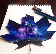 A 17-year-old turned these fallen leaves into incredible works of art.