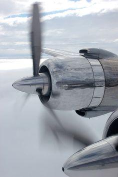 Ye olde PW piston engine powering a Douglas DC-6 (1959 vintage)
