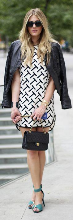 Nyfw : Black & White T Dress by Devon Rachel