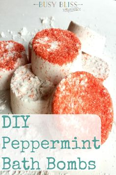 Easy Recipe for the Most Blissful DIY Peppermint Bath Bombs - these homemade bath bombs are a great gift for family, friends, teachers, and anyone else in need of a little relaxation!