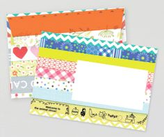 FREE printable envelope and writing papers / Snailmail Magazine (Nederlands blog)