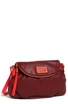 MARC BY MARC JACOBS 'Classic Q - Natasha' Leather Crossbody Bag available at #Nordstrom