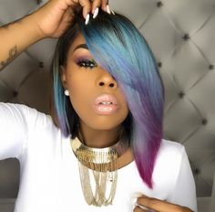 Beautiful blunt bob haircuts wigs for black women lace front wigs human hair wigs african american wigs buy now Black Women Hairstyles, Pretty Hairstyles, Girl Hairstyles, Hairstyles 2016, American Hairstyles, Latest Hairstyles, Black Women Braids, Short Weave Hairstyles, Funky Hairstyles