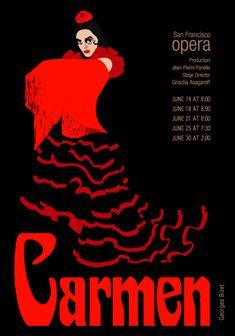 opera posters | carmen old opera poster