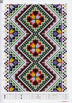 Gallery.ru / Фото #29 - №52(1-2) 2017 - irinask Needlepoint Patterns, Embroidery Patterns Free, Loom Patterns, Cross Stitch Embroidery, Cross Stitch Borders, Cross Stitch Charts, Cross Stitch Patterns, Palestinian Embroidery, Donia