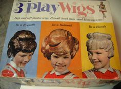 3 Play Wigs from the 1960's, for dress up