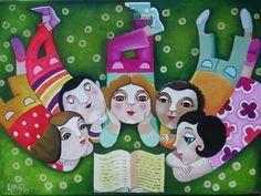 Sharing reading / Compartiendo la lectura (ilustración de Leandro Lamas)