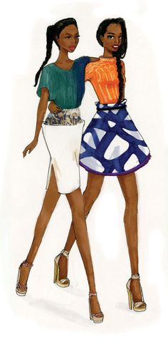 Nii Adom. Fashion illustration on Artluxe Designs. #artluxedesigns