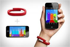 Jawbone Up is a personal health caring band which tracks your eating habits, inactive time and sleep patterns. The band requires iDevice to integrate with the provided app.