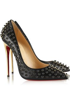 Christian Louboutin|Follies Cabo 120 embellished leather pumps