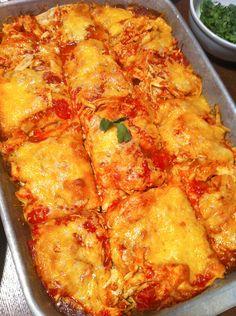 Layered Chicken Enchilada Casserole  The Artful Gourmet