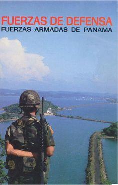 Portada del Libro Fuerzas de Defensa de Panamá - Editorial Sipimex Ltda 1987, Santiago de Chile.