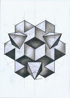 Risultati immagini per escher polyhedron with flowers