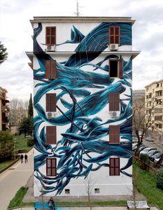 Pantonio, new mural in tor marancia - Roma