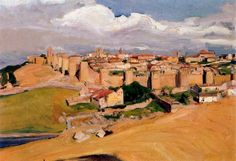 """joaquín sorolla y bastida - """"vista de ávila"""", 1912. oil on canvas (museo sorolla, madrid, spain)"""