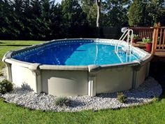 Having swimming pool at your home will be such a great option. It is not only can be a decoration for your home but also can be the means for children's play. Read MoreChoose The Best One for Your Above Ground Pool Size! Best Ideas Ever! Oberirdische Pools, Semi Inground Pools, Cool Pools, Above Ground Pool Landscaping, Backyard Pool Landscaping, Backyard Playground, Landscaping Ideas, Backyard Ideas, Patio Ideas