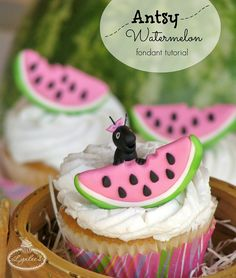 Fresh Summer Fun: Fondant Watermelon Cupcake Topper Tutorial - Welcome to the Craftsy Blog!