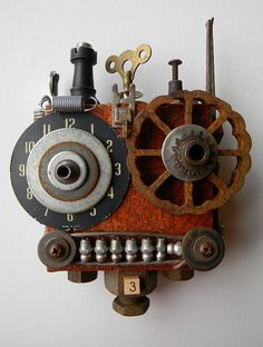 """""""Metal Mouth"""" -Art Assemblage piece 