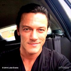 *picks jaw up off floor* why hello there smirky-faced Luke Evans. Could you be a little more attractive?