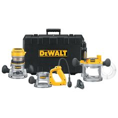 DEWALT 12 Amp Horsepower Plunge Base and Fixed Base - Offering excellent versatility and professional grade quality, the DEWALT router kit includes three bases that can tackle a wide variety of jobs: a fixed base, a plunge bas Woodworking Books, Router Woodworking, Fine Woodworking, Woodworking Classes, Woodworking Projects, Youtube Woodworking, Woodworking Machinery, Woodworking Videos, Wood Router Reviews
