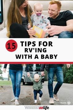 Are you rv'ing with a baby or planning for a future trip? Here are 15 tips to successfully prepare parents for a rv trip with a baby! Whether you are a weekend warrior or are full-time rv'ers these… More Travel Tips With Baby, Traveling With Baby, Road Trip Adventure, Preparing For Baby, Living A Healthy Life, Rv Parks, Rv Travel, Rv Life, Rv Living