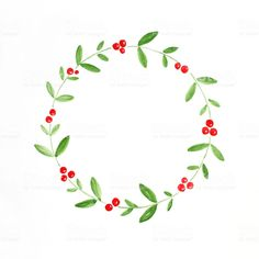 Christmas wreath watercolor drawing on white paper background, Christmas greeting card background - Royalty-free Art stock illustration Christmas Greeting Cards, Christmas Greetings, Holiday Cards, Christmas Wreath Image, Christmas Wreaths, Xmas, Calligraphy Cards, Calligraphy Christmas, Caligraphy
