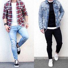 """2,553 curtidas, 50 comentários - Moda Para Homens (@modaparahomens) no Instagram: """"Esquerda ou direita?"""""""