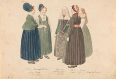 Jeg vil ha den korte svarte jakken til min bunad! Traditional Outfits, 18th Century, Norway, Fairy Tales, Period, Image, Paintings, Google Search, Clothing