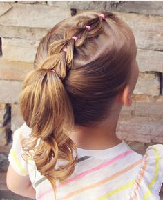 10 Braided Pigtail Styles for Your Girls Style Style When talking about girls hairdo, the braided pigtail will always be the best choice as it has many pretty and … Girls Hairdos, Cute Hairstyles For Kids, Baby Girl Hairstyles, Girl Haircuts, Box Braids Hairstyles, Childrens Hairstyles, Woman Hairstyles, Short Haircuts, Little Girls Ponytail Hairstyles