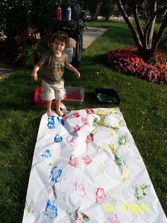 Preschool--Inspired by the story Mouse Paint by Ellen Stoll Walsh