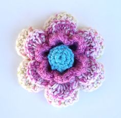 How To Make Crocheted Flowers | ... not little delicate crocheted flowers but big chunky crocheted flowers