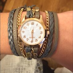 Gorgeous Wrap Wristwatch NWT! Brand new and absolutely stunning! Jewelry Bracelets