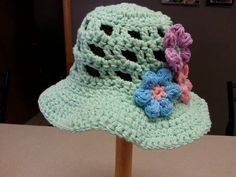 Crochet Cool Summer Girl Sun Hat Customize Your by JensNeedleKnows,