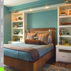 Love this look of a kind of built in. Great storage! Simple and pretty ;)