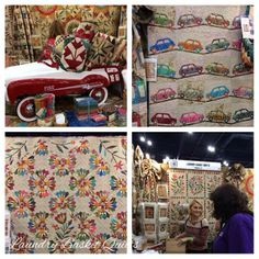 Views in the Laundry Basket Quilts Booth.