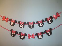 Minnie Mouse Bachelorette Bridal Shower Banner by BehindTheTheme