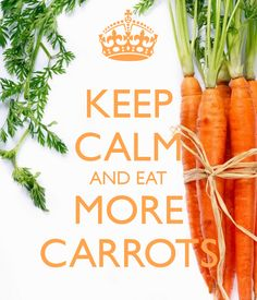 KEEP CALM AND EAT MORE CARROTS          b