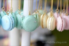 Rainbow Macaron Necklaces via Etsy!