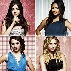 Pretty Little Liars: Lucy Hale (Aria Montgomery), Shay Mitchell (Emily Fields), Troian Bellisario (Spencer Hastings), Ashley Benson (Hannah Marin) #PLL