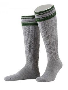 http://www.trachten24.eu/Trachtensocken-Alpenland-Handstrick-mit-Umschlag-grau - Trachtensocken Alpenland Handstrick - Bavarian socks Alpenland handmade