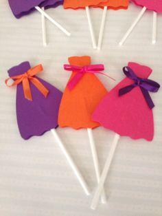Fashion Show Cupcake Toppers--- Project Runway Cupcake - - Dress Cupcake Toppers