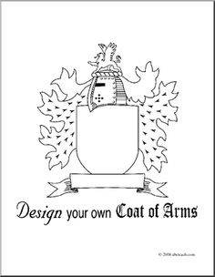 Heraldic crests coat of arms eps royalty free stock for Make your own coat of arms template