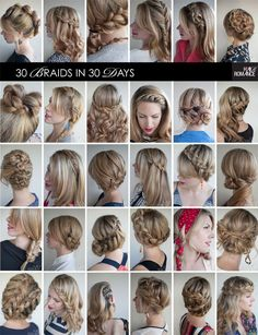 Try out different braids for every day of the week.