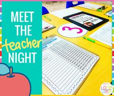 For meet the teacher night, I have found it very helpful to guide parents…