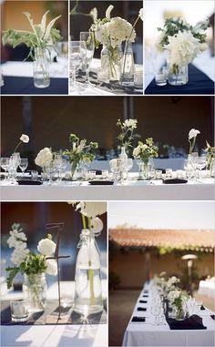 black white wedding deocr