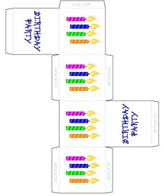 Cake Candles Design Birthday Party Favor Box - Free, Printable Birthday Crafts