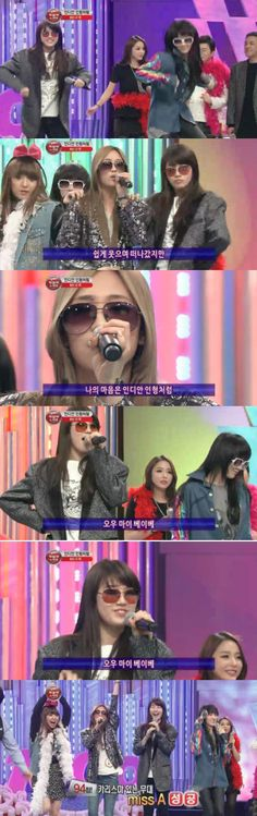 """miss A does the """"rabbit dance"""" on '1000 Songs Challenge' #allkpop #missA"""
